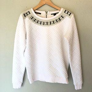 Maison Scotch Soda white Embellished Sweater 1